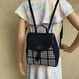 Kate Spade Leila Tweed Fabric Medium Backpack